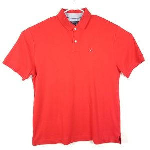 Tommy Hilfiger Size XL red polo shirt short sleeve